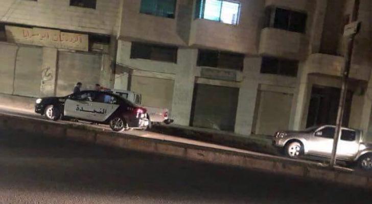 صورة الدورية الأمن التي تعرضت لإطلاق نار