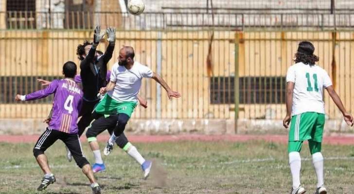 جانب من مباراة فريقي جامعة إدلب والخوذ البيضاء