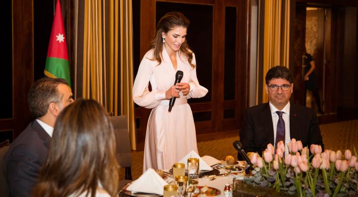 جلالة الملكة رانيا العبدالله تكرم داعمي مؤسسة نهر الأردن