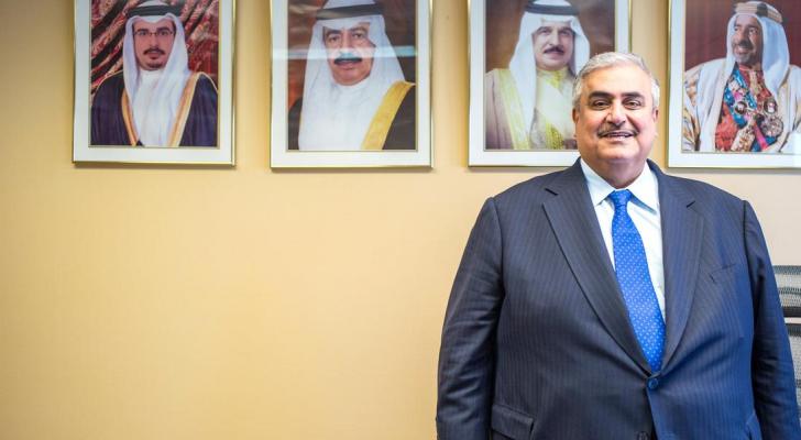 """وزير خارجية البحرين قال إن من حق """"إسرائيل"""" الدفاع عن نفسها"""