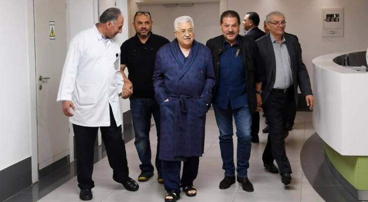 عباس داخل المستشفى