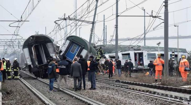 قتيلان وجرحى في خروج قطار عن سكته في ايطاليا