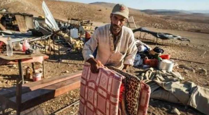 قوات الاحتلال تطرد 5 عائلات فلسطينية من منطقة الأغوار الشمالية