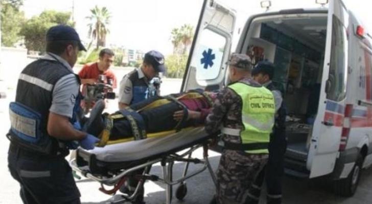 5 اصابات في حادث تدهور مركبة في منطقة ابو نصير بعمان