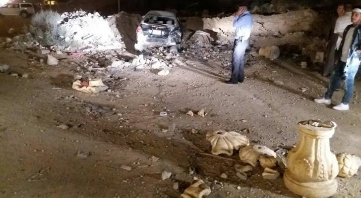 حادث دهسوقع بمنطقة اتوستراد الزرقاء/عمان