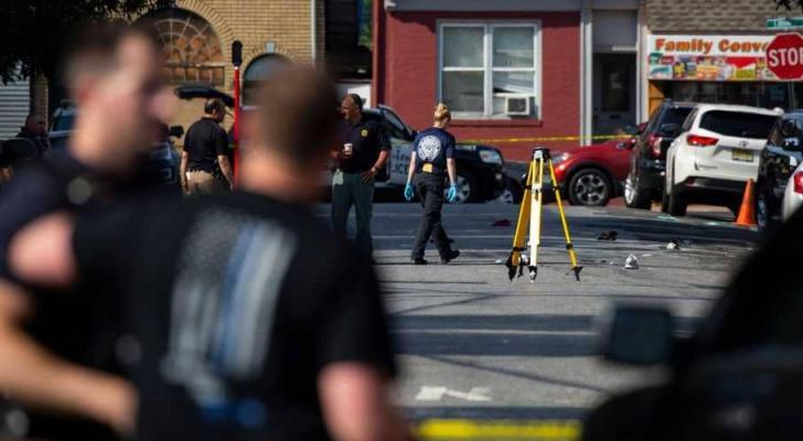 شرطة ولاية نيوجيرسي بموقع الحادث