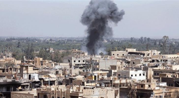 قصف في درعا - ارشيفية