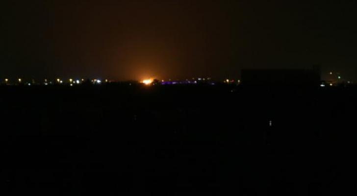قصف سابق لقوات الاحتلال على محيط مطار دمشق الدولي