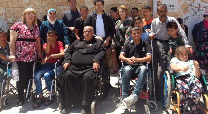 تحقيق حلم 25 من ذوي الاحتياجات لزيارة البتراء