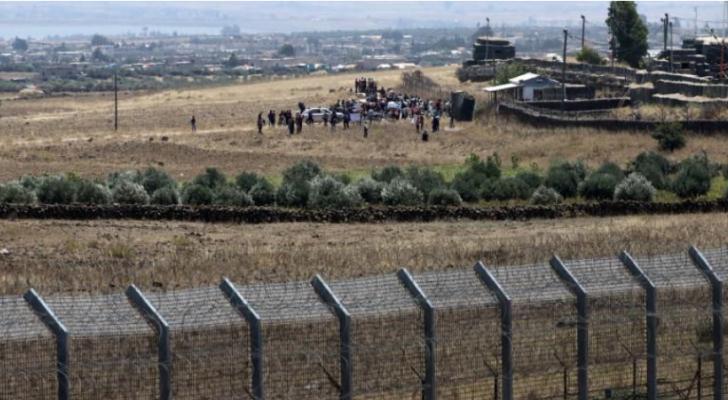جزء من الحدود بين الاحتلال وسوريا من هضبة الجولان
