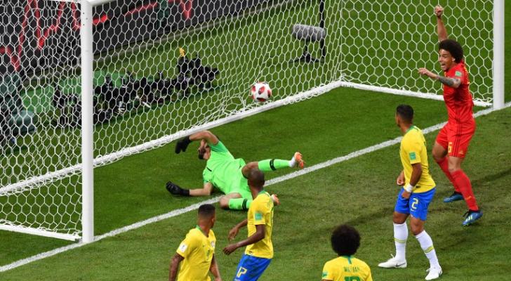 صورة من مباراة البرازيل وبلجيكا