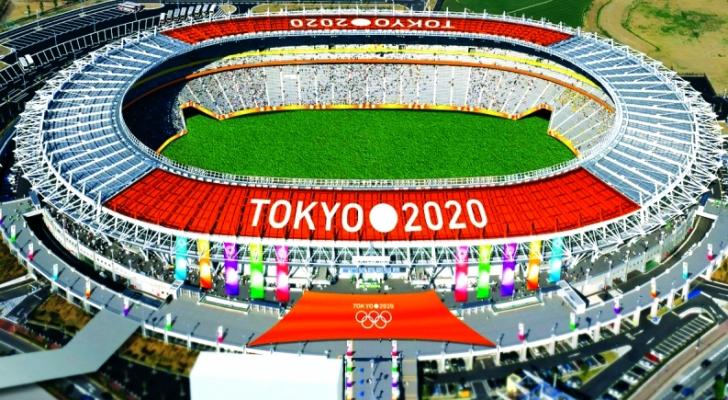 مجسم لملعب طوكيو الذي سيحتضن أولمبياد 2020
