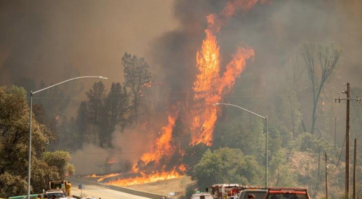 صورة من حرائق كاليفورنيا