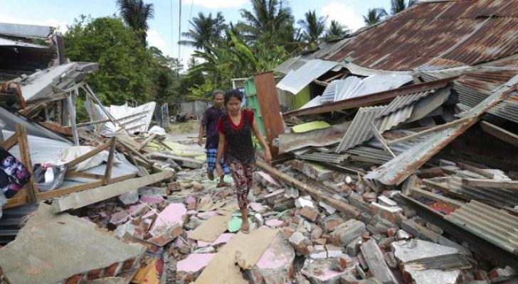 صورة من زلزال اندونيسيا