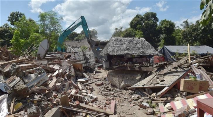 جانب من الزلزال