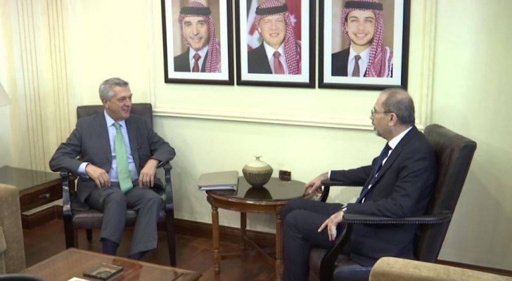 الصفدي يلتقي مفوض الأمم المتحدة لشؤون اللاجئين