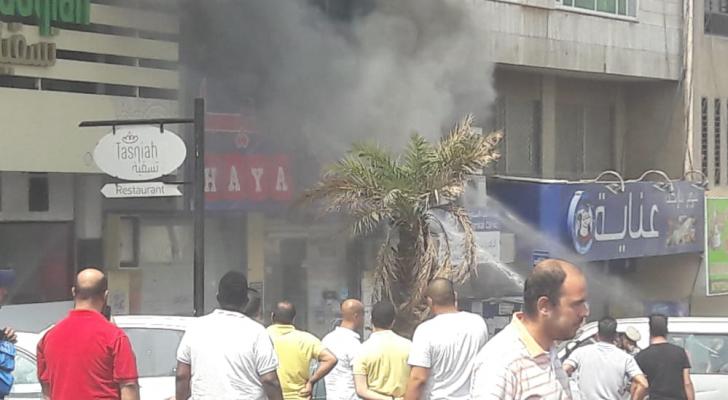 حريق صيدلية في العقبة