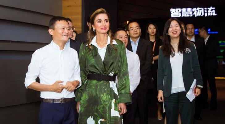 الملكة رانيا العبدالله في زيارة الى الصين