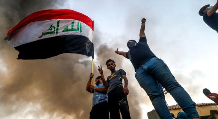 صورة من احتجاجات البصرة