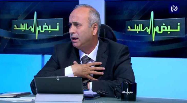 مدير عام دائرة ضريبة الدخل والمبيعات حسام ابو علي خلال استضافته بإحدى حلات نبض البلد