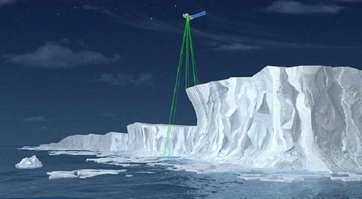 ليزر فضائي بتكلفة مليار دولار لقياس ذوبان جليد الأرض