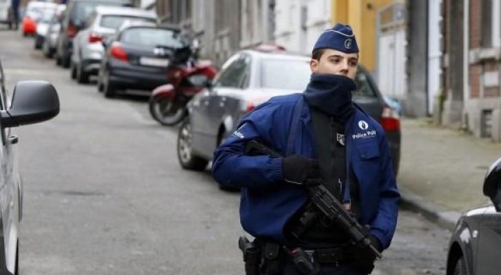 ارشيفية لاحد عناصر الشرطة البلجيكية