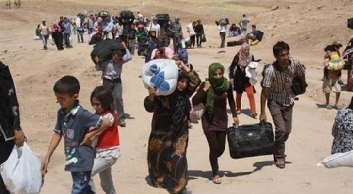 نازحون سوريون - ارشيفية