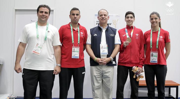 الأمير فيصل يتوج مصطفى باولى ميداليات الأردن بأولمبياد الارجنتين للشباب