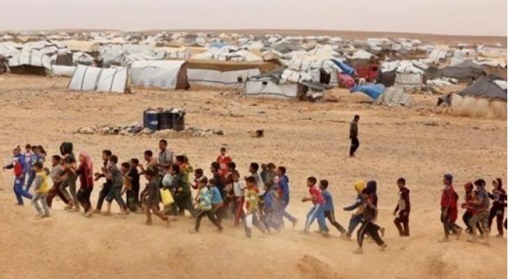 أطفال سوريون في مخيم الركبان على الحدود مع الأردن  - ارشيفية