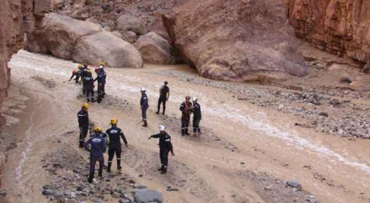 من عمليات البحث عن مفقودي حادثة البحر الميت