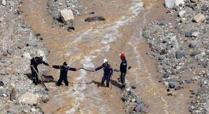 اثناء عمليات الانقاذ في البحر الميت - ارشيفية