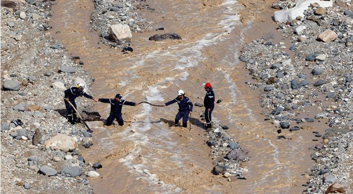 صورة لعمليات البحث عن مفقودين في البحر الميت - ارشيفية