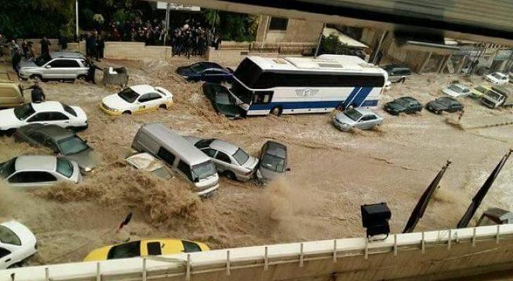 صورة من غرق العاصمة عمان - ارشيفية