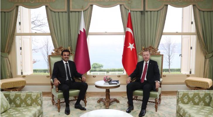 الرئيس التركي وأمير قطر