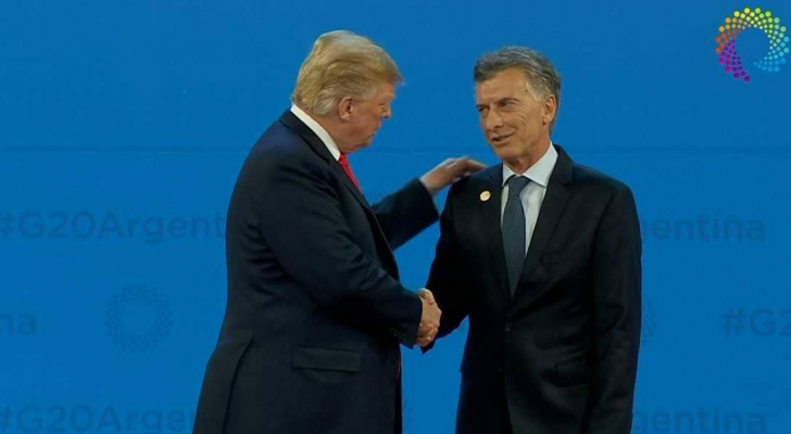 ترمب والرئيس الأرجنتين