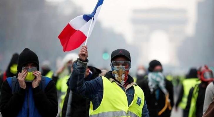 من احتجاجات باريس