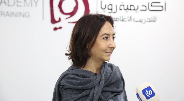 سمو الأميرة ريم علي خلال زيارتها أكاديمية رؤيا