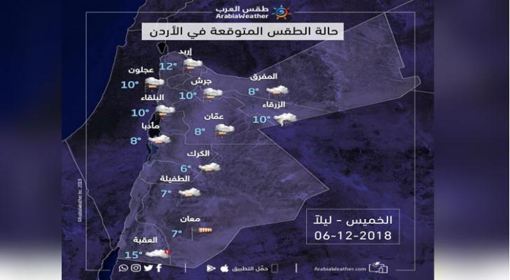 صورة للخرائط الجوية الليلة