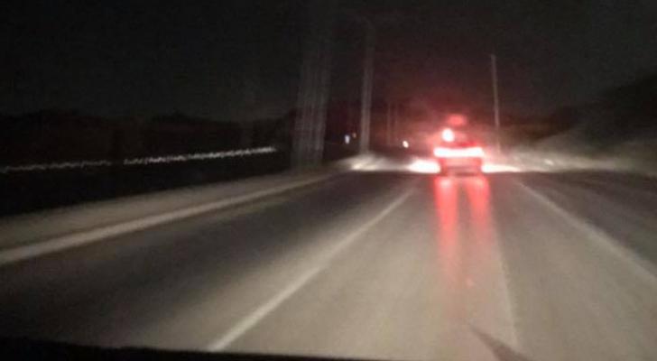 طريق عمان - البحر الميت دون إضاءة