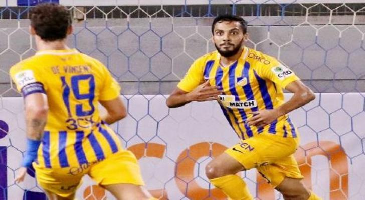 نجم منتخبنا الوطني لكرة القدم موسى التعمري، لاعب أبويل القبرصي