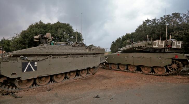 دبابتين للاحتلال قرب زرعيت على حدود الأراضي المحتلة مع لبنان