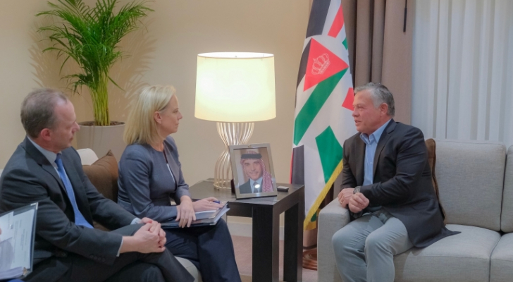جلالة الملك عبدالله الثاني يلتقي وزيرة الأمن الداخلي الأمريكية كريستين نيلسن