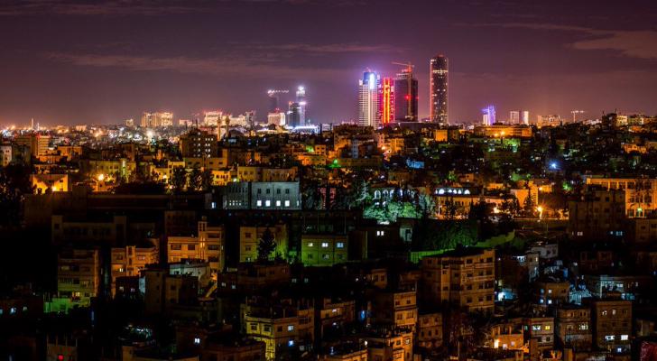 صورة عامة للعاصمة عمان ليلا