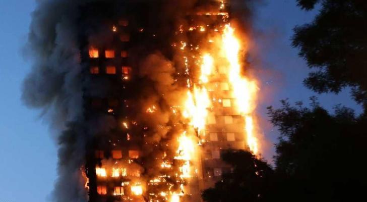 الحريق كان في 14 حزيران 2017