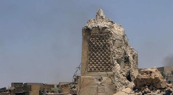صورة المسجد الذي تعرض للدمار
