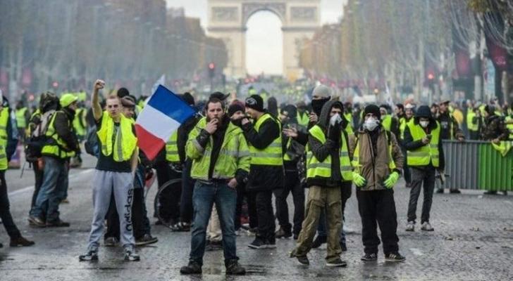 مظاهرة للسترات الصفراء في باريس