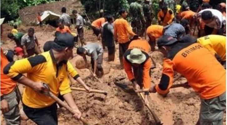 انهيارات أرضية في إندونيسيا