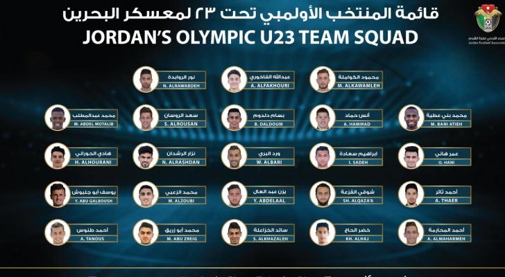 قائمة المنتخب الأولمبي