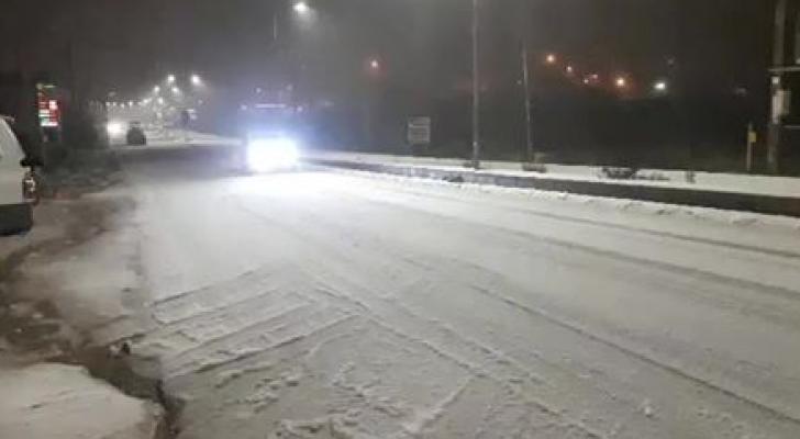 الثلوج في عجلون