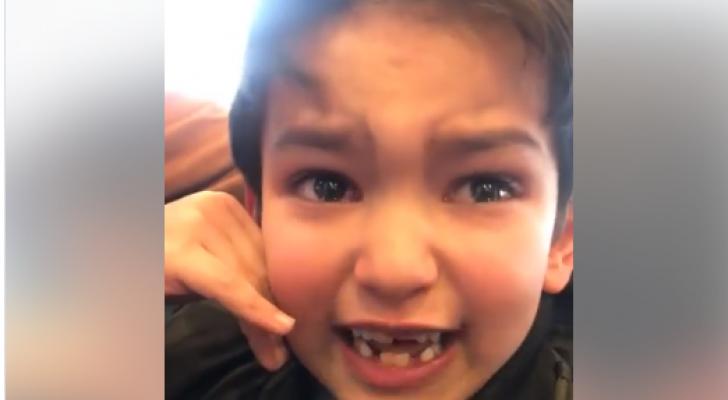 ردة فعل طفل بعد خسارة النشامى أمام فيتنام